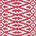 Fair Isle Red/Ivory Cotton  Woven  Rug