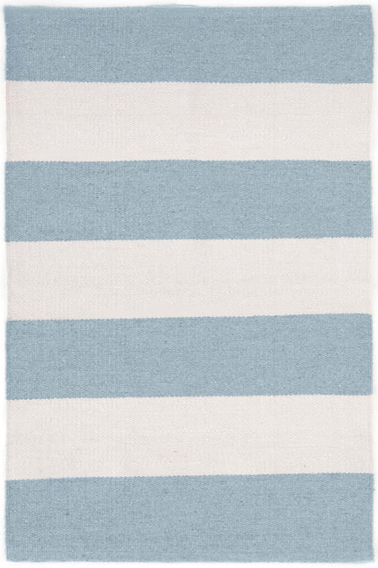 Falls Village Stripe Blue Indoor/Outdoor Rug | The Outlet