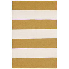 Falls Village Stripe Ocher Indoor/Outdoor Rug
