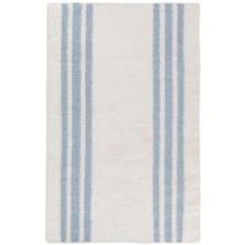 Farmhouse Stripe Woven Linen Rug