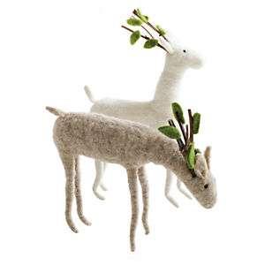 Felt Woodland Reindeer Set of 2