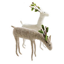 Felt Woodland Reindeer/Set Of 2