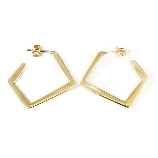 Ferguson Gold Side Hoop Earrings