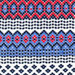 Fiesta Stripe Blue/Red Indoor/Outdoor Rug