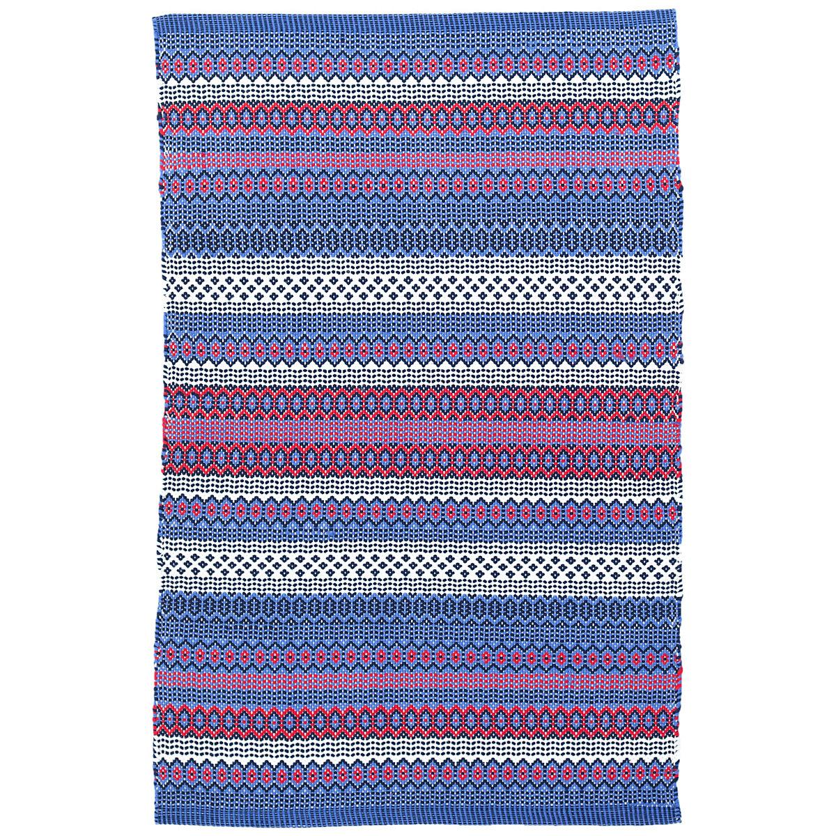 Fiesta Stripe Blue/Red Indoor/Outdoor Rug
