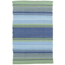 Fiesta Stripe French Blue/Green Indoor/Outdoor Rug