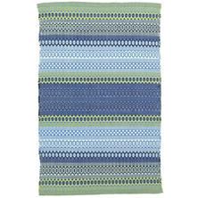 Fiesta Stripe French Blue/Green Indoor/Outdoor Rug