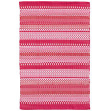 Fiesta Stripe Fuchsia/Red Indoor/Outdoor Rug