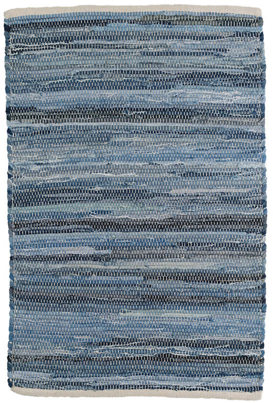 Fine Denim Rag Woven Cotton Rug Dash Amp Albert