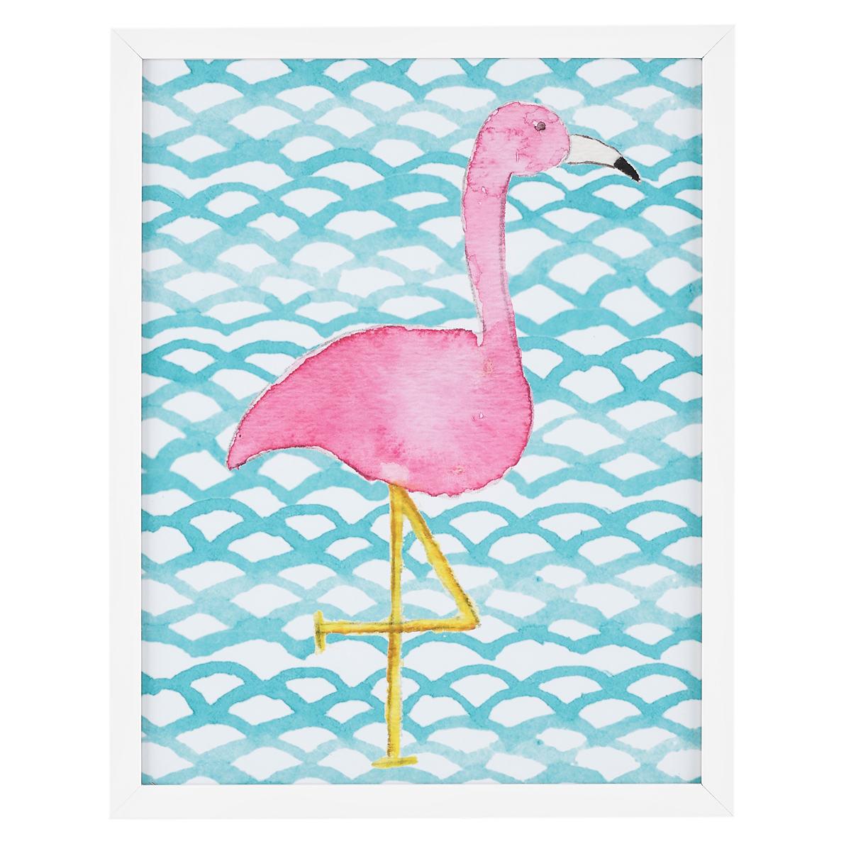 Fiona Flamingo  Wall Art