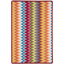Flame Stitch Multi Woven Wool Rug