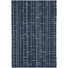 Flint Navy Woven Cotton Rug