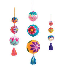 Floral Embroidered Spheres