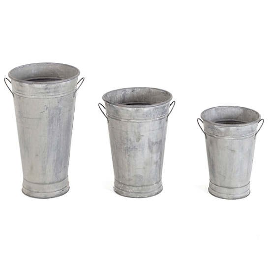 Flower Buckets/Set Of 3