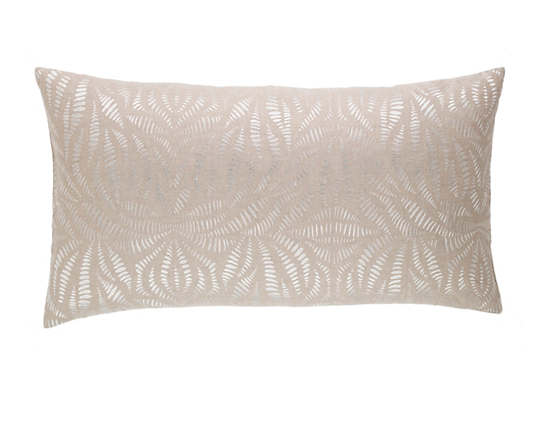 Fossil Embroidered Ivory Decorative Pillow