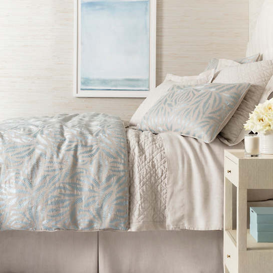 Fossil Embroidered Sky Duvet Cover