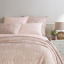 Fossil Embroidered Slipper Pink Duvet Cover