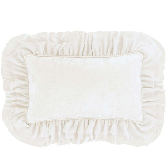 Francesca Velvet Ivory Decorative Pillow