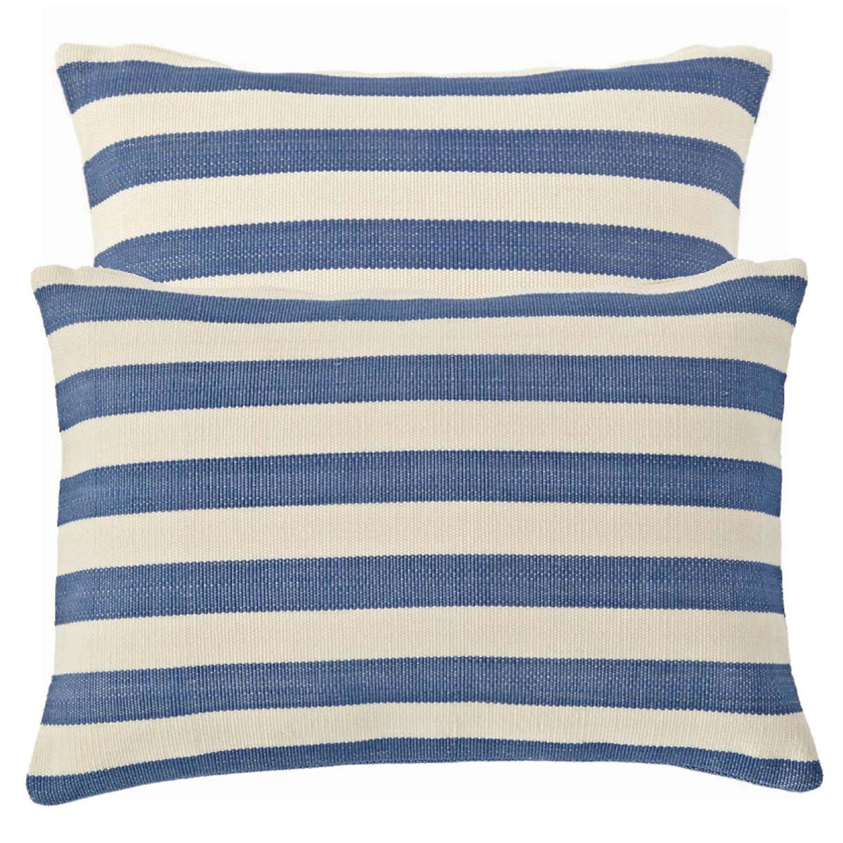 Trimaran Stripe Denim/Ivory Indoor/Outdoor Pillow
