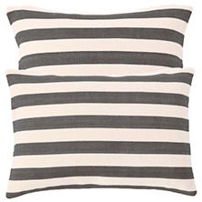 Trimaran Stripe Graphite/Ivory Indoor/Outdoor Pillows