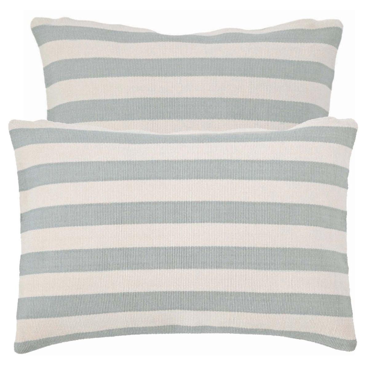 Trimaran Stripe Light Blue/Ivory Indoor/Outdoor Pillow