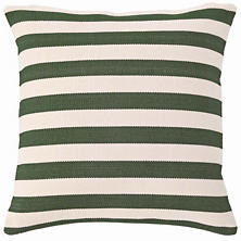 Trimaran Stripe Pine/Ivory Indoor/Outdoor Pillow