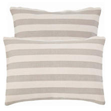 Trimaran Stripe Platinum/Ivory Indoor/Outdoor Pillow