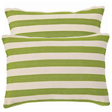 Trimaran Stripe Sprout/Ivory Indoor/Outdoor Pillow