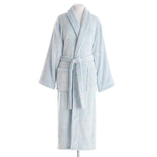 Frosted Fleece Aqua Long Robe