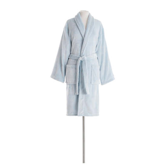 Frosted Fleece Aqua Shortie Robe