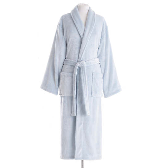 Frosted Fleece French Blue Long Robe