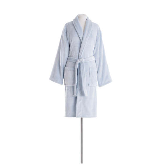 Frosted Fleece French Blue Shortie Robe