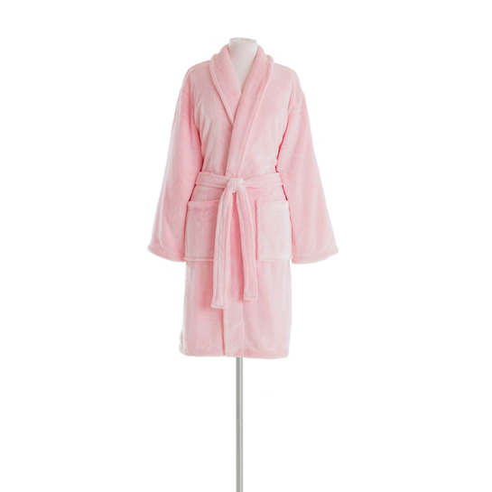 Frosted Fleece Melon Shortie Robe