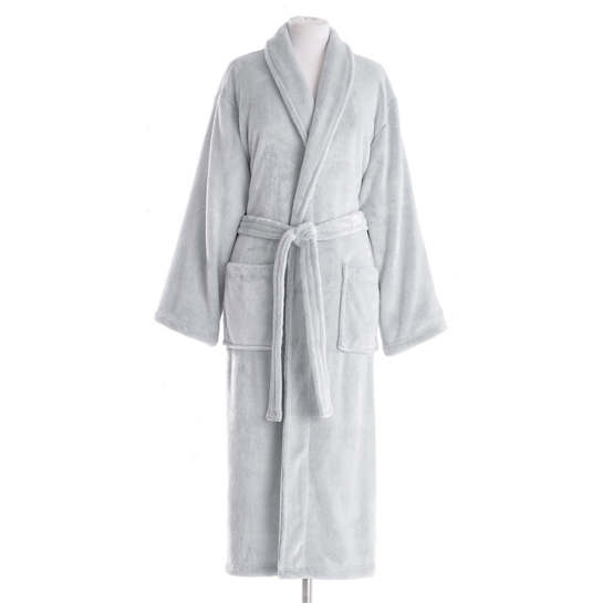 Frosted Fleece Silver Long Robe