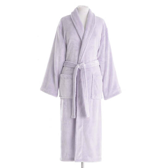 Frosted Fleece Violet Long Robe