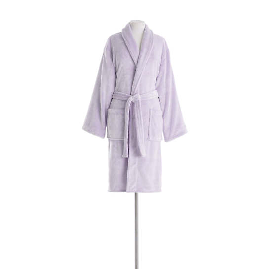 Frosted Fleece Violet Shortie Robe
