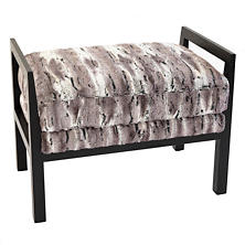 Faux Chinchilla Highlawn Bench