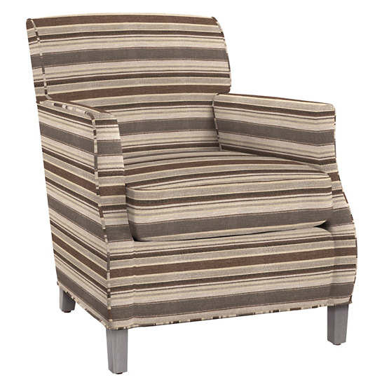 Appaloosa Stripe Ashford Chair