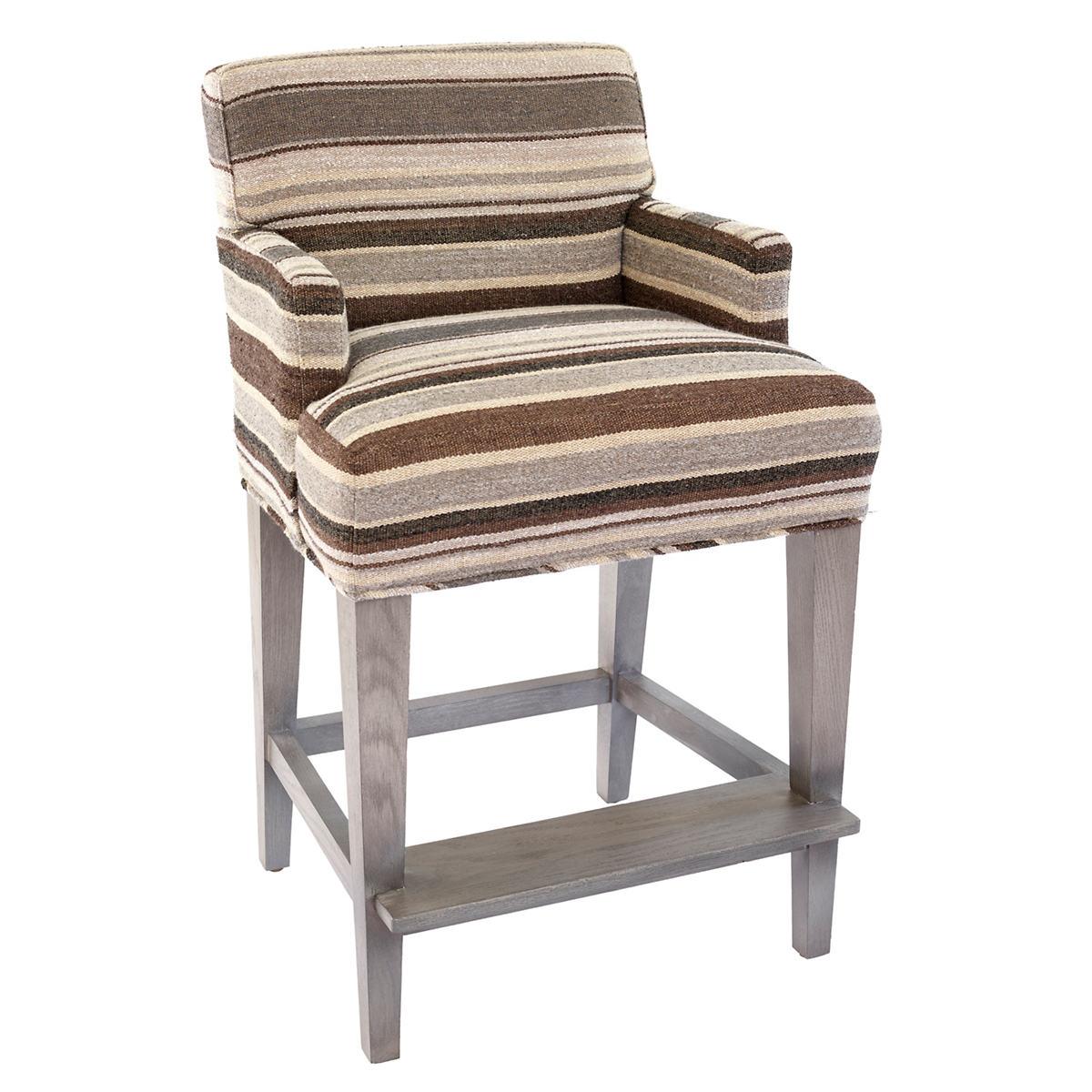 Appaloosa Stripe Windsor Counter Stool