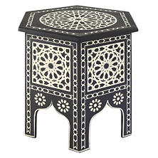 Tangier Moroccan Inlaid Side Table