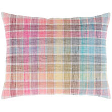 Gabby Plaid Embroidered Decorative Pillow