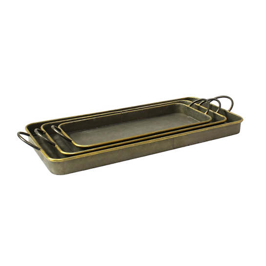 Galvanized  Tray/Set Of 3