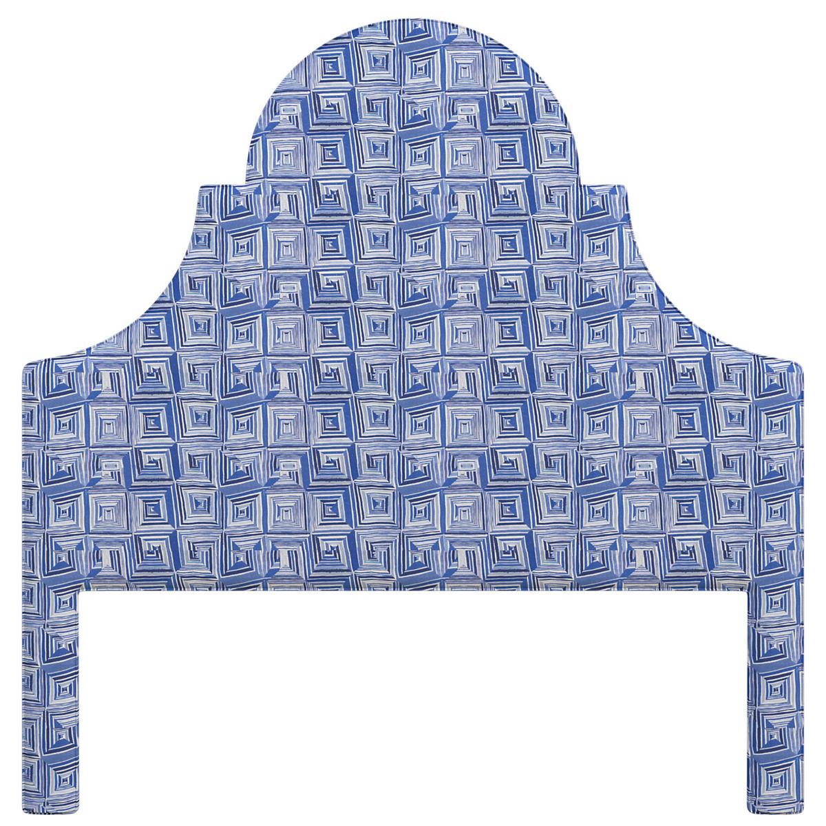 Geo Blue Montaigne Headboard