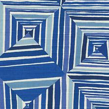 Geo Blue Fabric