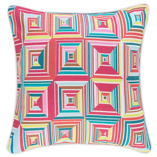 Geo Bright Indoor/Outdoor Decorative Pillow