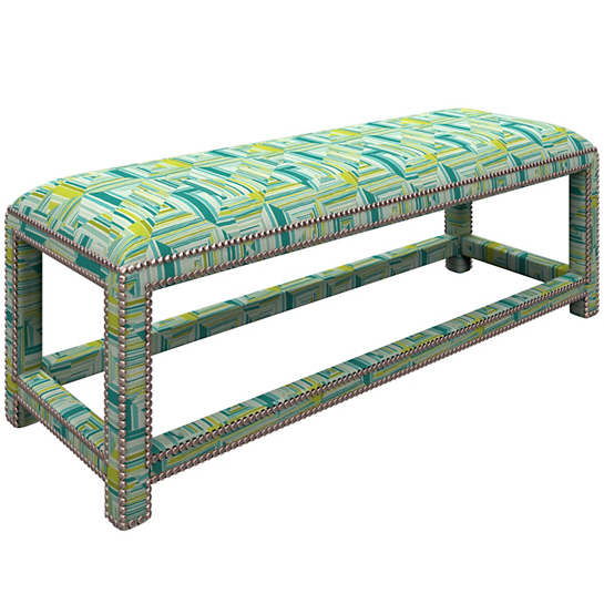 Geo Green Lexington Bench