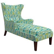 Geo Green Mirage Tobacco Chaise
