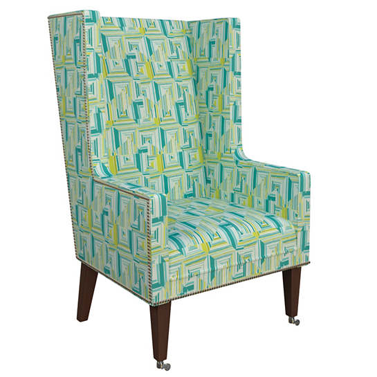 Geo Green Neo-Wing Chair