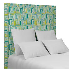 Geo Green Stonington Headboard