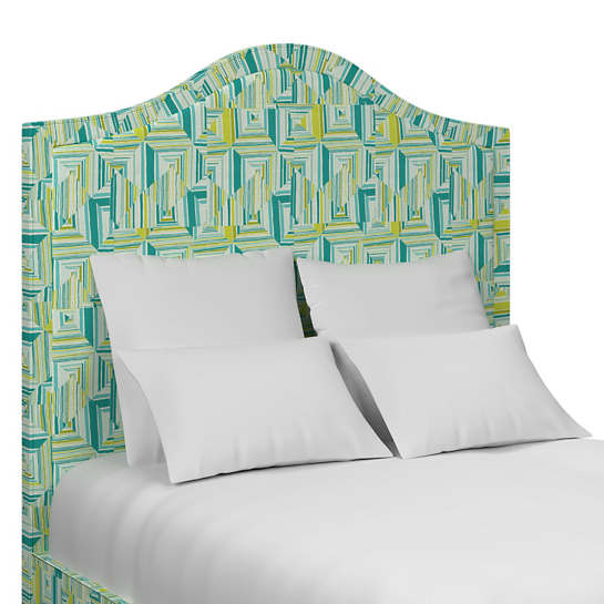 Geo Green Westport Headboard